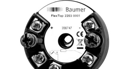 BAUMER FlexTop 2203 Temperature Transmitter