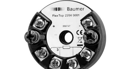 BAUMER FlexTop 2204 Temperature Transmitter