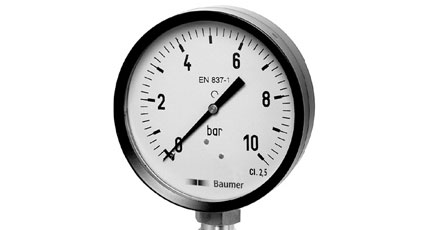 BAUMER BOURDON MAT1 Steel Case and Bezelring Pressure Gauges