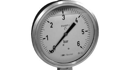 BAUMER BOURDON Pressure gauges filled with dampening liquid (MIT3)