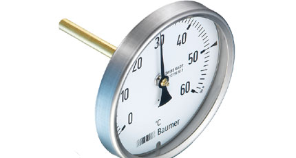 BAUMER BOURDON Bimetal Thermometer with Short Immersion Tube (TBH Series)