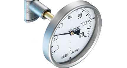 BAUMER BOURDON Bimetal Thermometer for Isolated Pipes (TBHA Series)