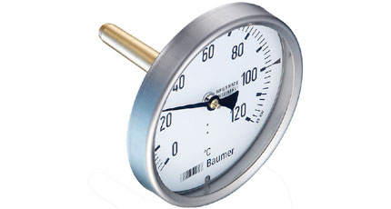 BAUMER BOUDON Bimetal Thermometer with Conical Immersion Tube (TBX / TBW Series)