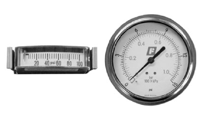 FAIRCHILD Mini Strip and Round Pressure Gauges